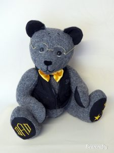 Memorybear-Mix-harris tweed