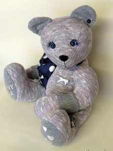 Memory bear made from cardigan