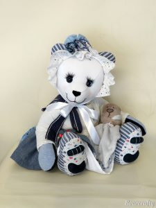 Dressed keepsake bear
